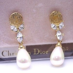 Christian Dior 14k Post Earrings with box NWT